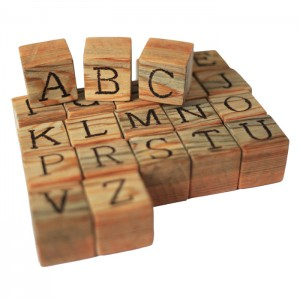 Wooden blocks - letters and numbers